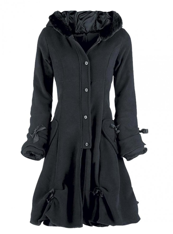 "Manteau Gothique Lolita Poizen Industries (Evil Clothing) ""Alice Black"""