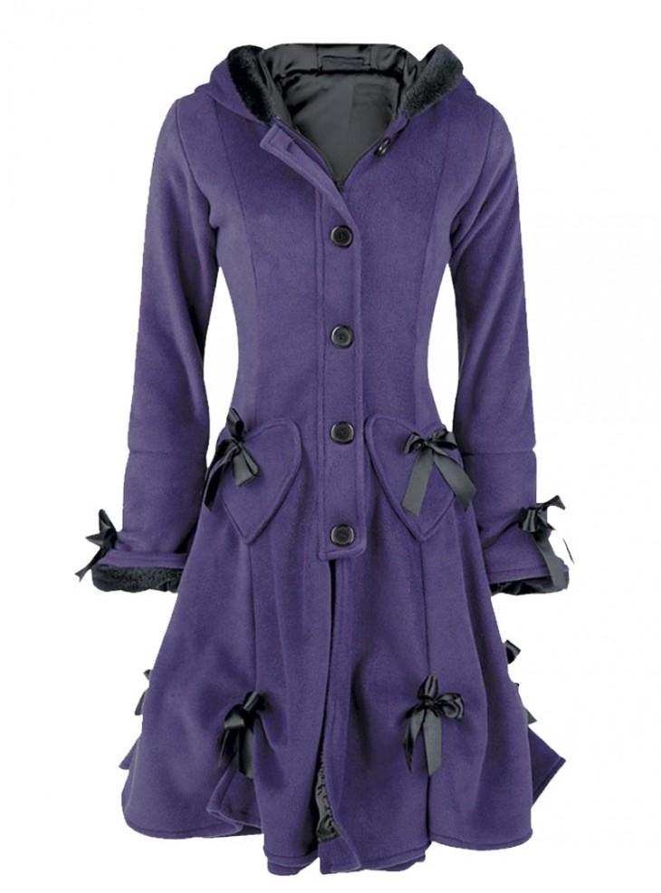 """Manteau Gothique Lolita Poizen Industries (Evil Clothing) """"Alice Purple"""""""