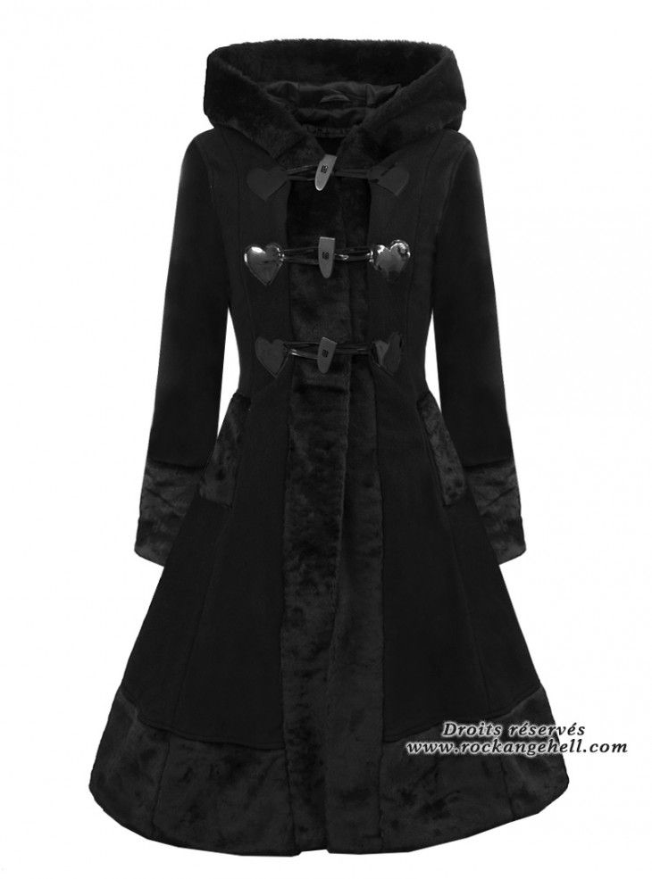 "Manteau Rockabilly Gothique Lolita Poizen Industries (Evil Clothing) ""Minx"""