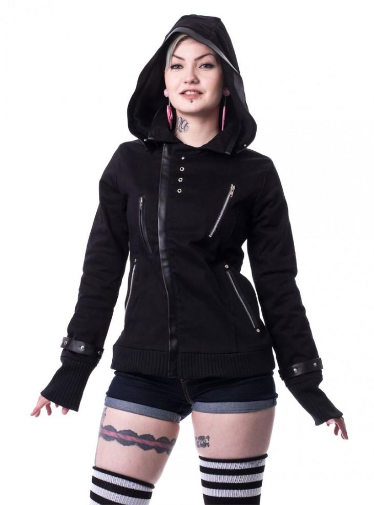 """Veste Gothique Rock Poizen Industries (Evil Clothing) """"Z Black"""""""