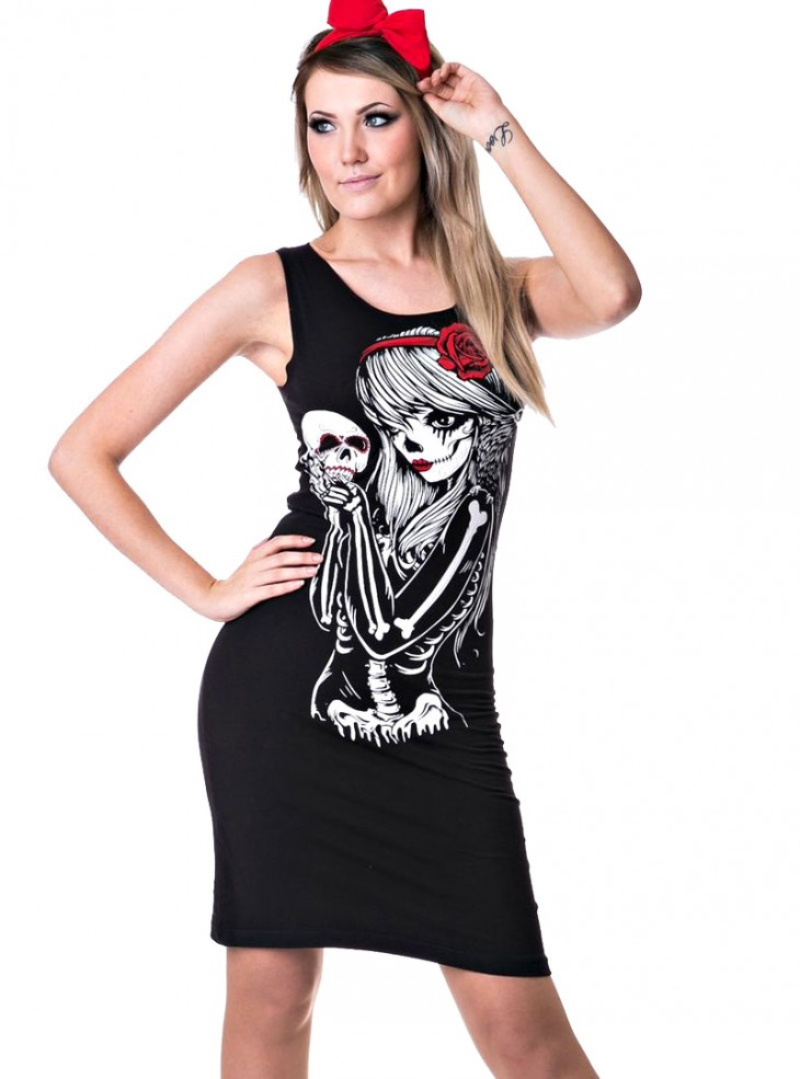 "Robe Rock Gothique Vixxsin (Evil Clothing) ""Crow Girl Slasher"""