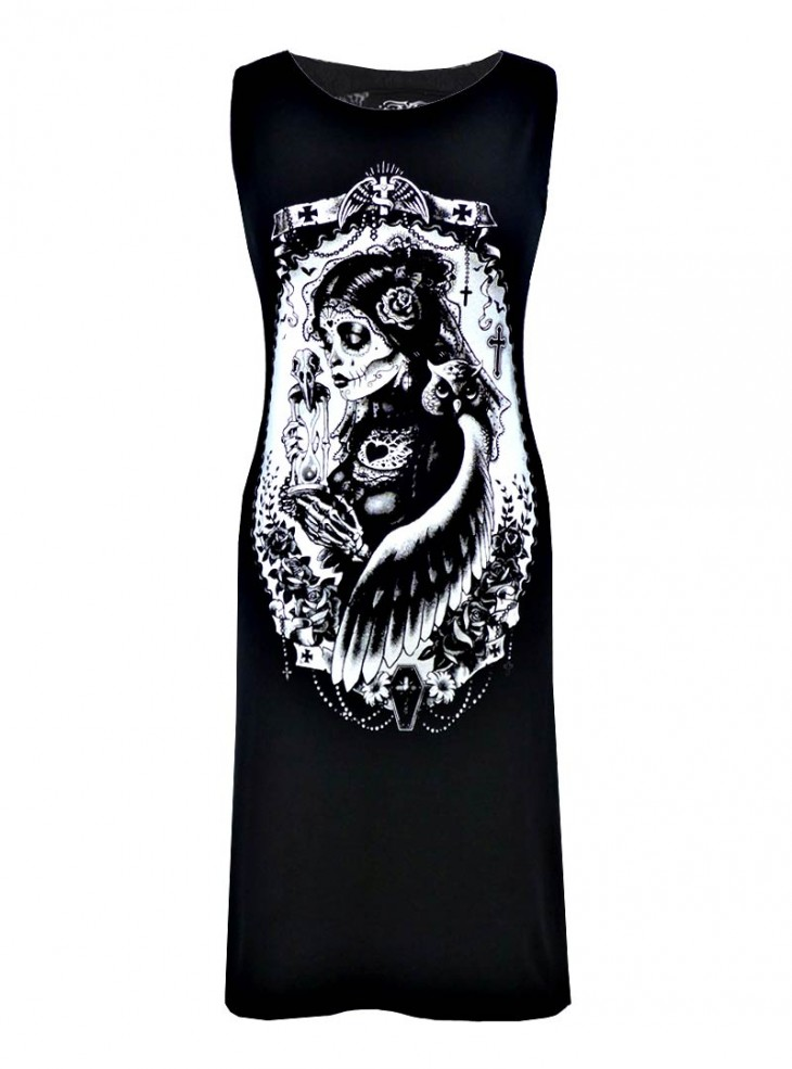 "Robe Rock Gothique Vixxsin (Evil Clothing) ""Funeral Slasher"""