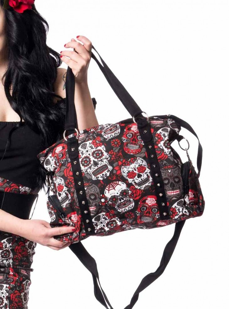 "Sac Rockabilly Gothique Rockabella (Evil Clothing) ""Muerte Skull"""