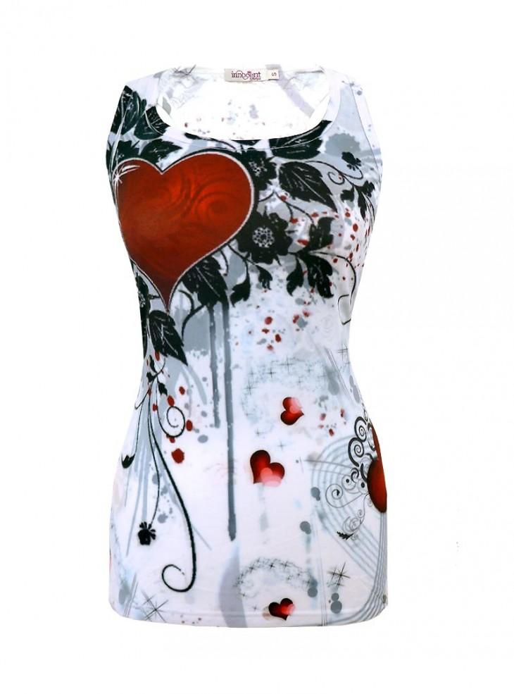 "Débardeur Rock Innocent (Evil Clothing) ""Rose Heart"""