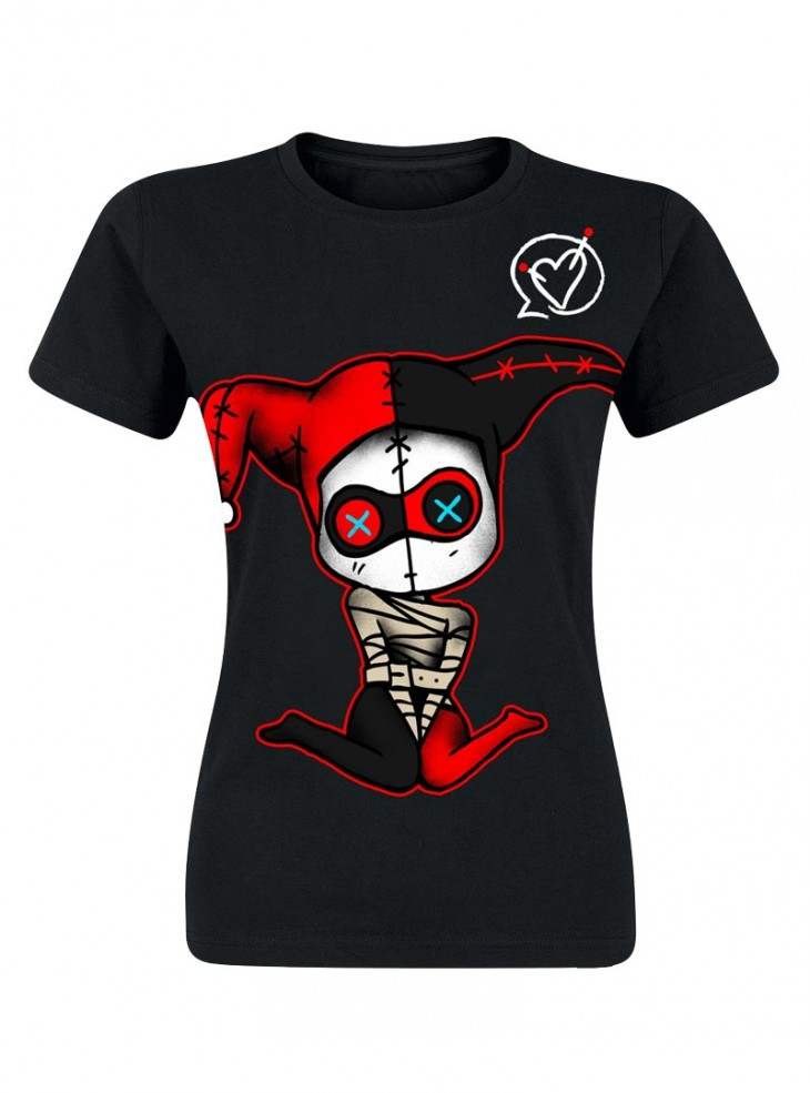 "Tee-shirt Gothique Rock Cupcake Cult (Evil Clothing) ""Insane Harley Quinn"""