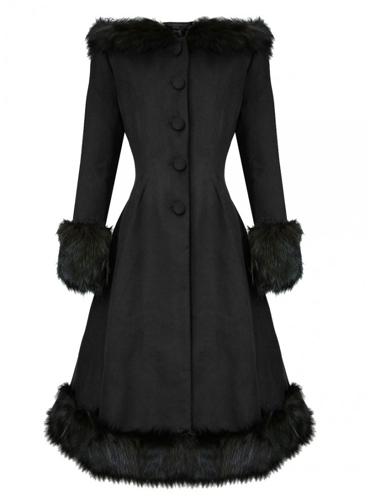 "Manteau Rockabilly Pin-Up Lolita Hell Bunny ""Elvira Black"""