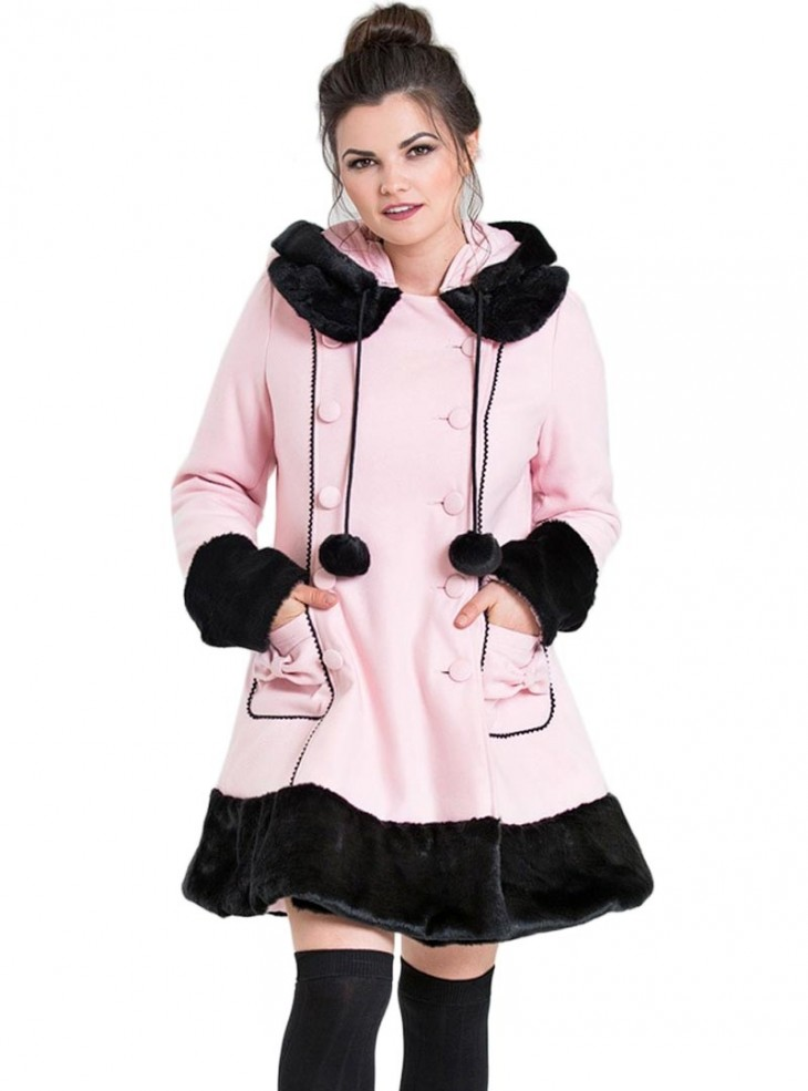"Manteau Rose Gothique Rockabilly Lolita Hell Bunny ""Sarah Jane Pink"""
