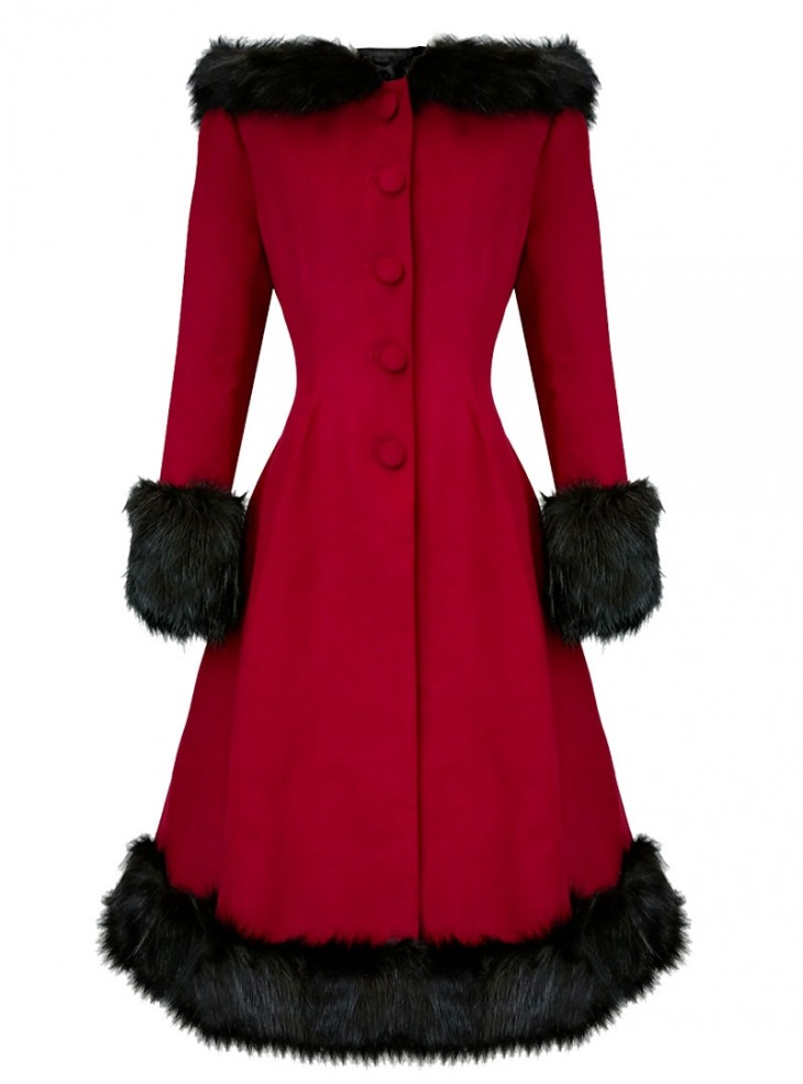 "Manteau Retro Rockabilly Pin-Up Lolita Hell Bunny ""Elvira Red"""