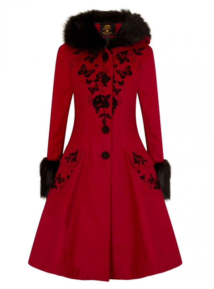 "Manteau Pin-Up Rockabilly Lolita Hell Bunny ""Anderson Red"""