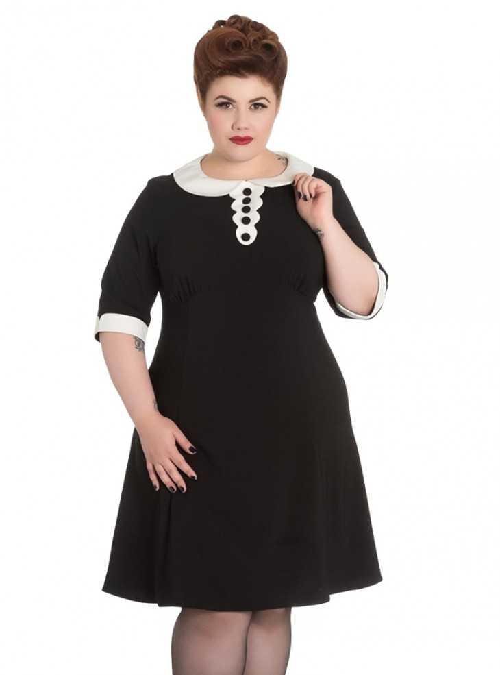 """Robe Gothique Rockabilly Hell Bunny """"Magpie"""""""