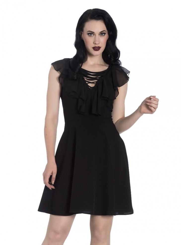 "Robe Gothique Rock Hell Bunny ""Onyx"""