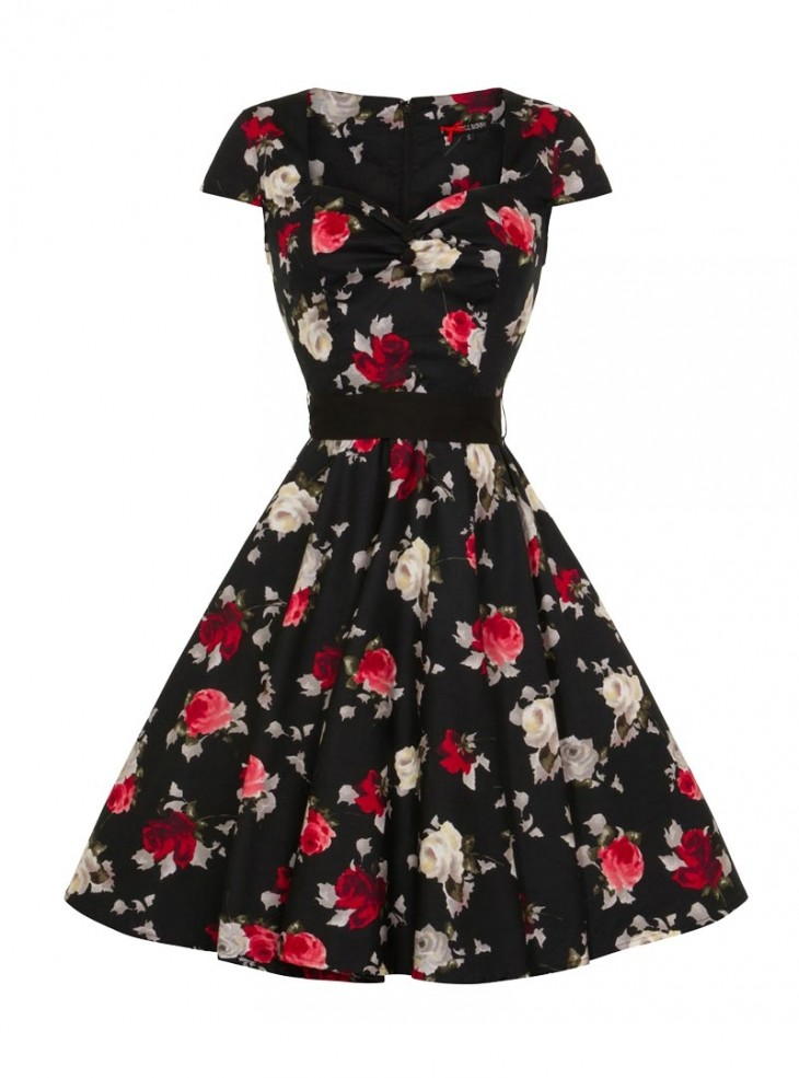 "Robe Rockabilly Pin-Up Années 50' Hell Bunny ""Abella"""