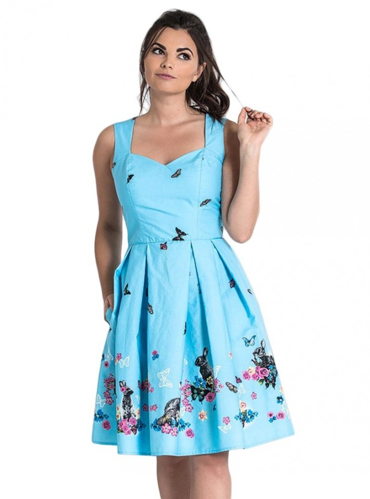 "Robe Pin-Up Années 50 Rockabilly Hell Bunny ""Cotton Tail"""