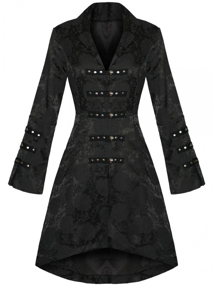 "Manteau gothique rockabilly HR London ""Embroidery"""