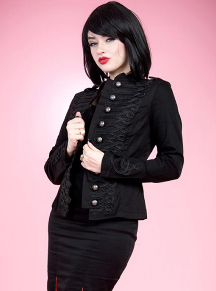 "Veste Militaire Gothique Rockabilly HR London ""MJ"""