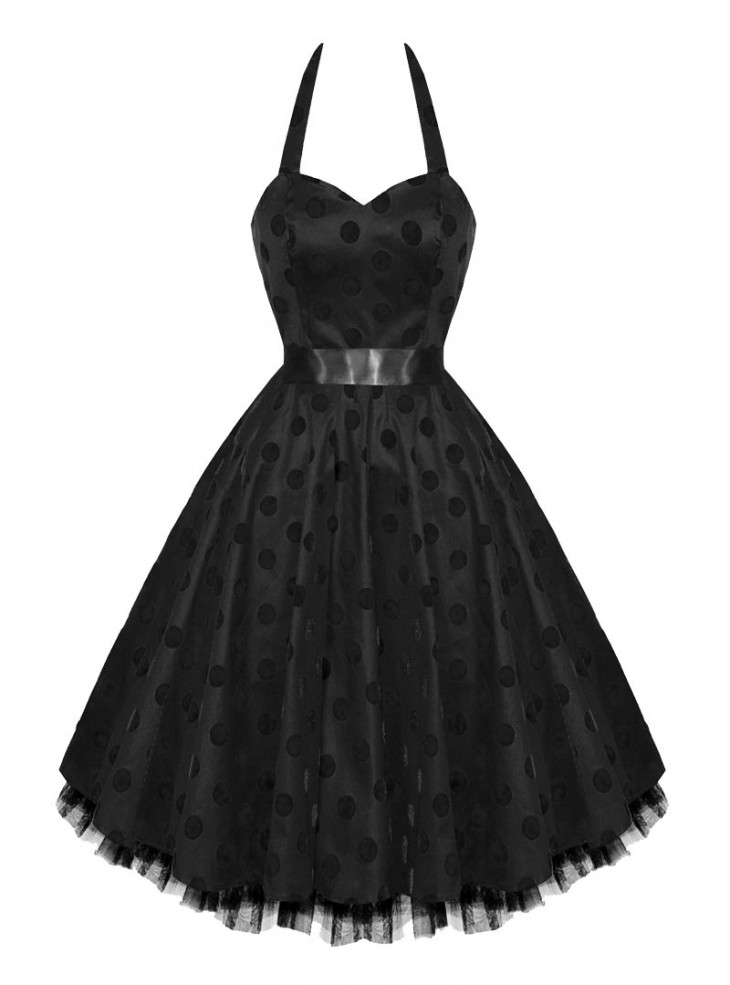 "Robe vintage HR London ""Black Dot"""