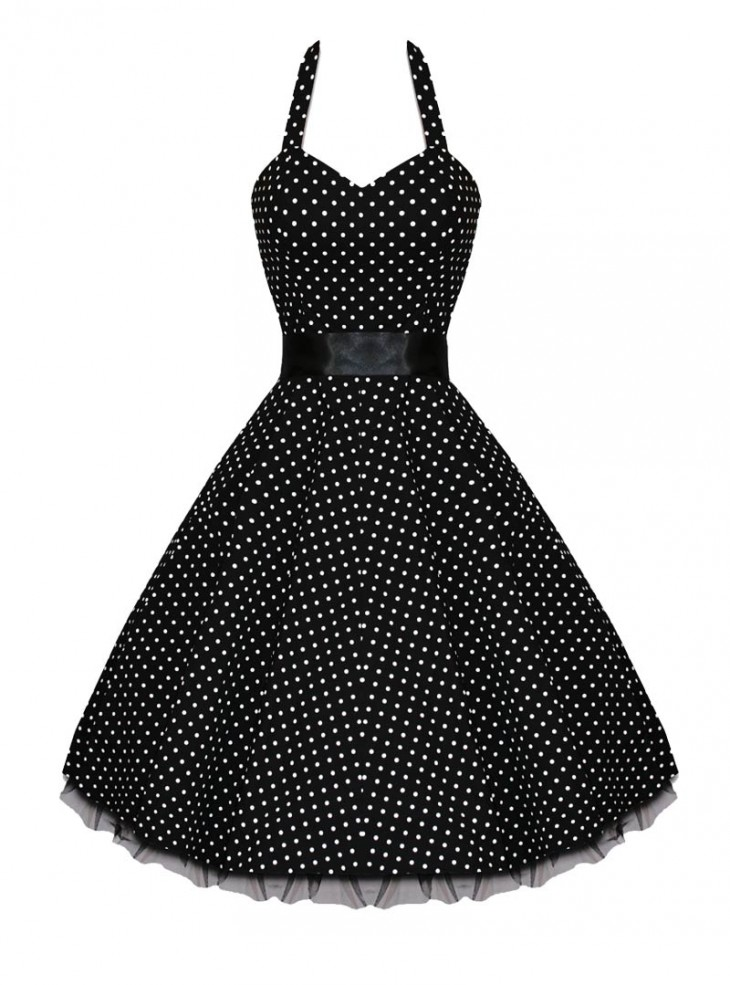 "Robe Vintage HR London ""Black & White Dot"""