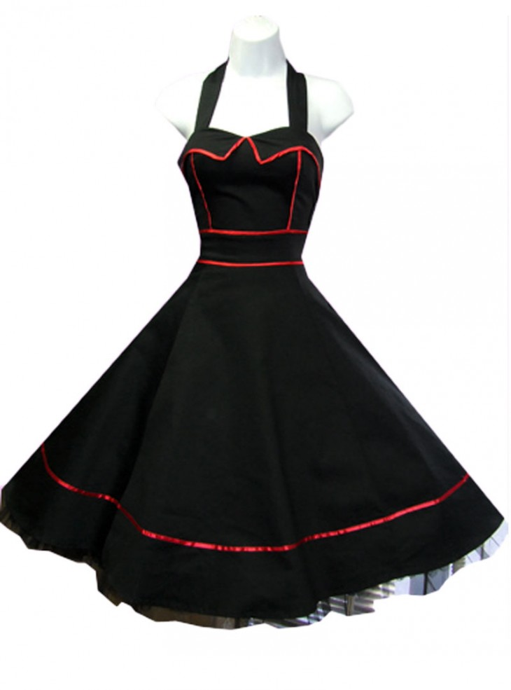 "Robe vintage rockabilly HR London ""Piping"""