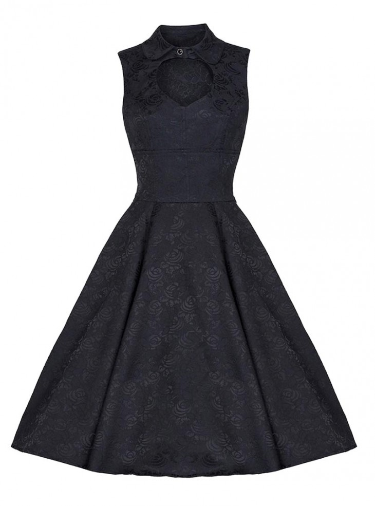 "Robe rockabilly gothique Pin-up HR London ""Heart"""