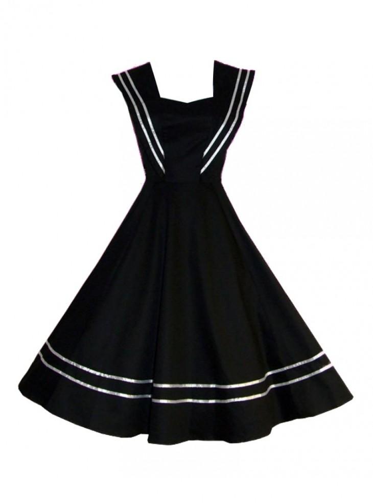"Robe Sailor Rockabilly Vintage HR London ""Black Sailor"""