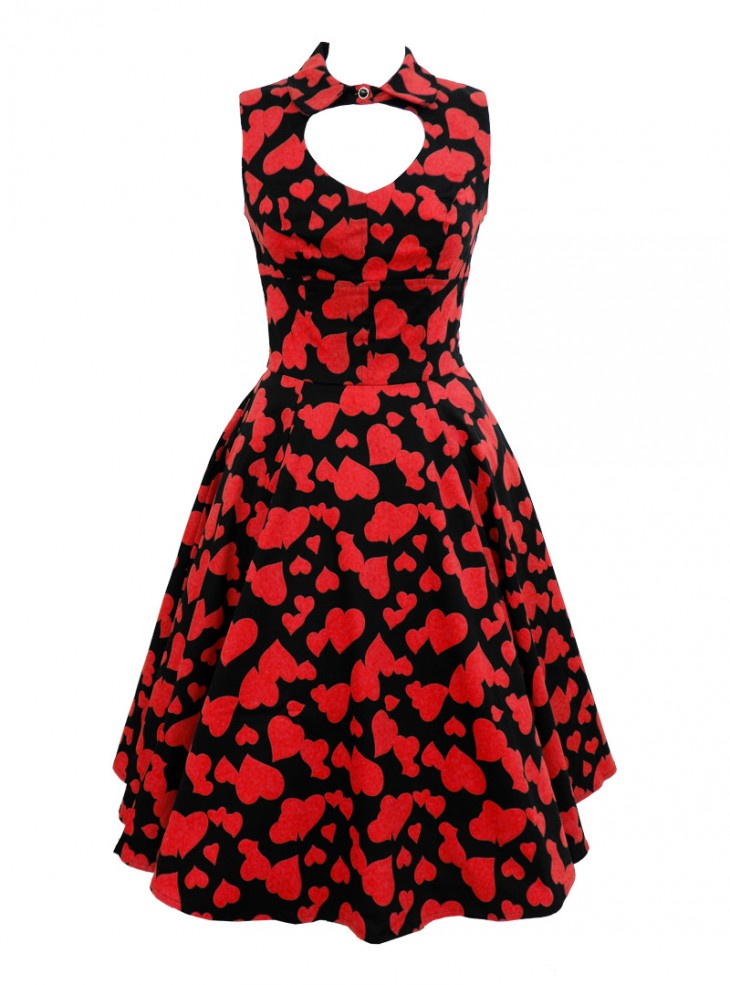 """Robe Rockabilly Pin-up HR London """"Red Heart"""""""