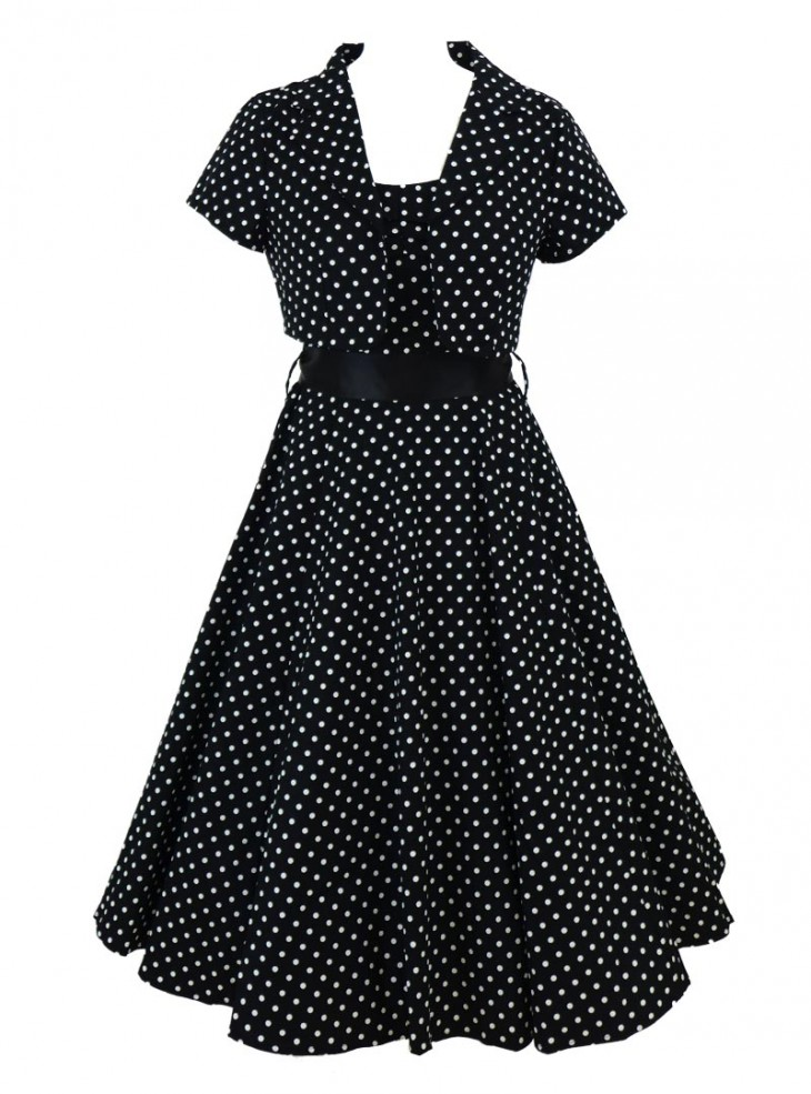 "Robe + Boléro Vintage Rockabilly Retro HR London ""Elsa"""