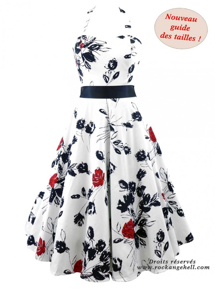 "Robe Rockabilly Pin-Up Années 50 HR London ""Divine Rosa"""