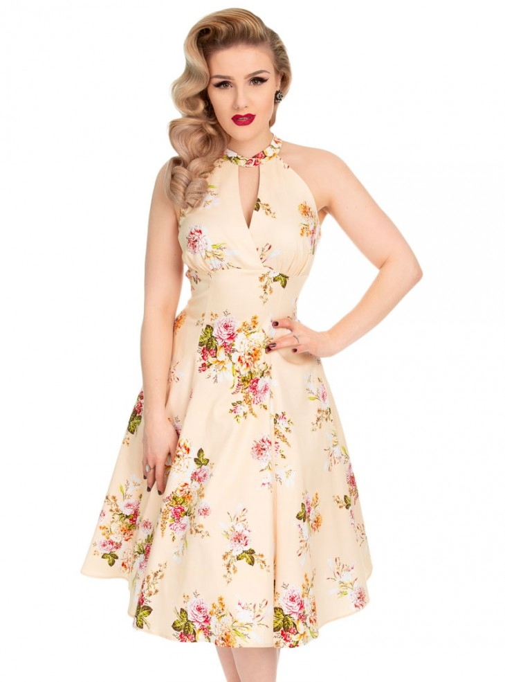 "Robe Pin-Up Années 50 Rockabilly HR London ""Lucinda"""