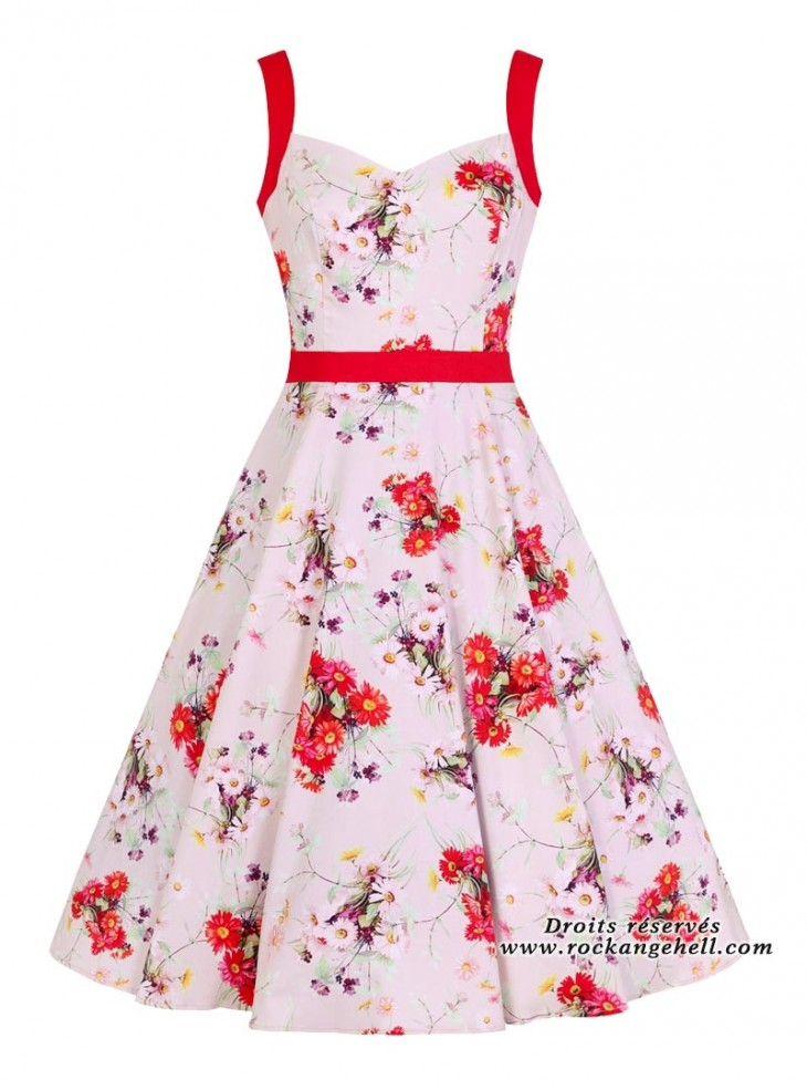 "Robe Rockabilly Années 50 Pin-Up HR London ""Deborah"""