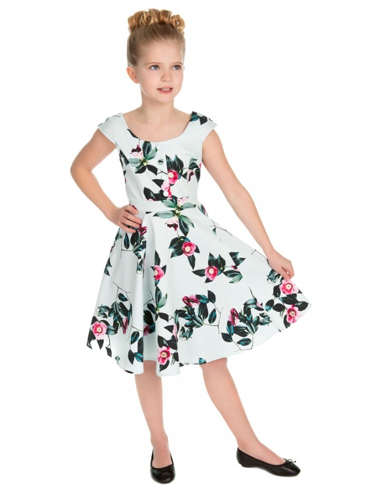 "Robe Enfant Fille Rockabilly Retro Vintage HR London ""Mademoiselle Swing"""