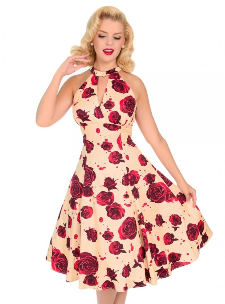 "Robe Pin-Up Retro Rockabilly HR London ""Lucinda Floral"""