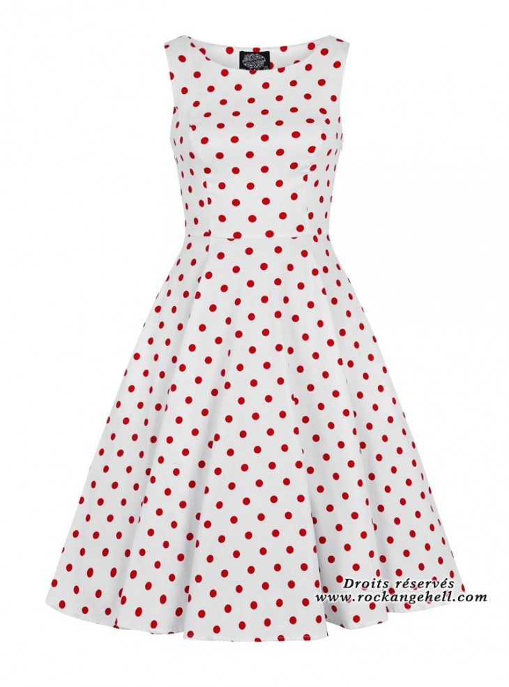 "Robe Rockabilly Retro Pin-Up HR London ""Cindy Red Dots"""