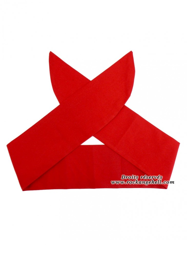 "Foulard Cheveux Rockabilly Gothique Rock Ange'Hell ""Just Red"""