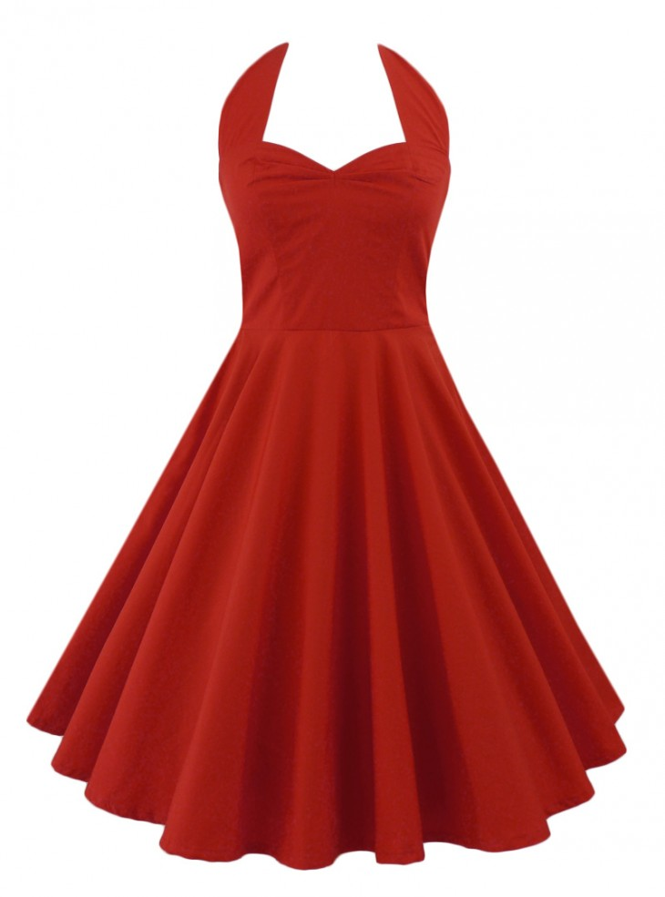 "Robe Rockabilly Gothique Rock Ange'Hell ""Vivien Red"""