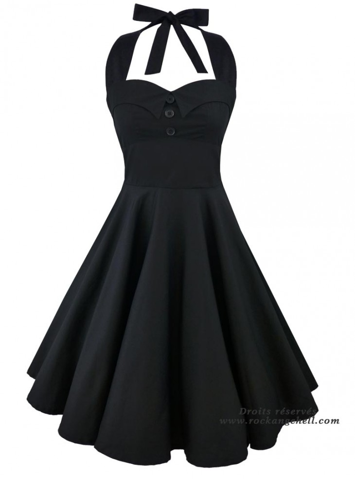 "Robe Rockabilly Rock Gothique Rock Ange'Hell ""Ashley Just Black"""