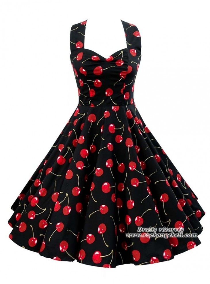 "Robe Retro Pin-Up Années 50 Rock Ange'Hell ""Vivien Cherry"""