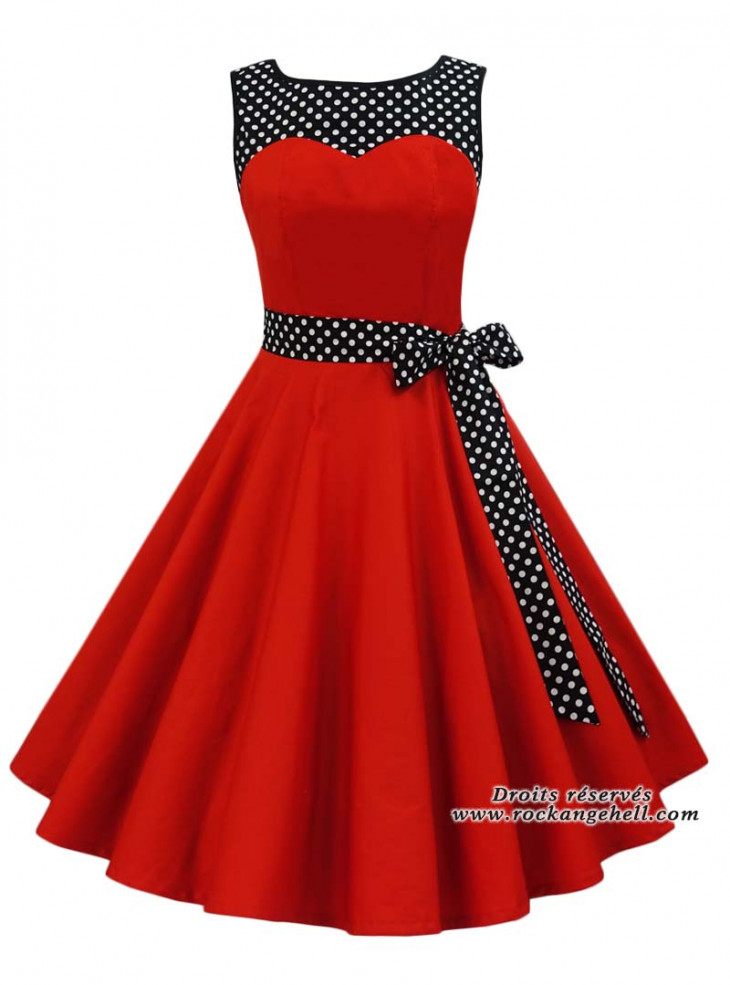 """Robe Rockabilly Pin-Up Années 50 Rock Ange'Hell """"Joanne"""""""