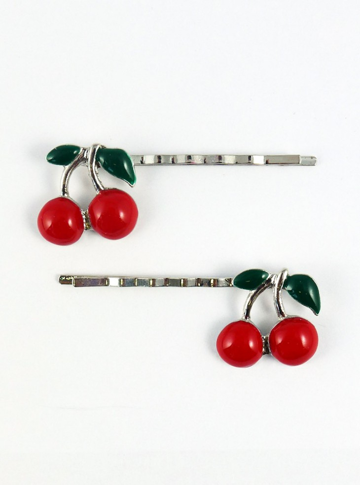 """Barrettes Cheveux  Rockabilly Pin-UP Rock Daddy """"Cherry"""""""