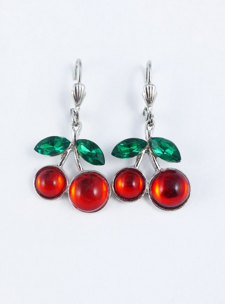 "Boucles d'oreilles Rockabilly Retro Rock Daddy ""Cherry"""