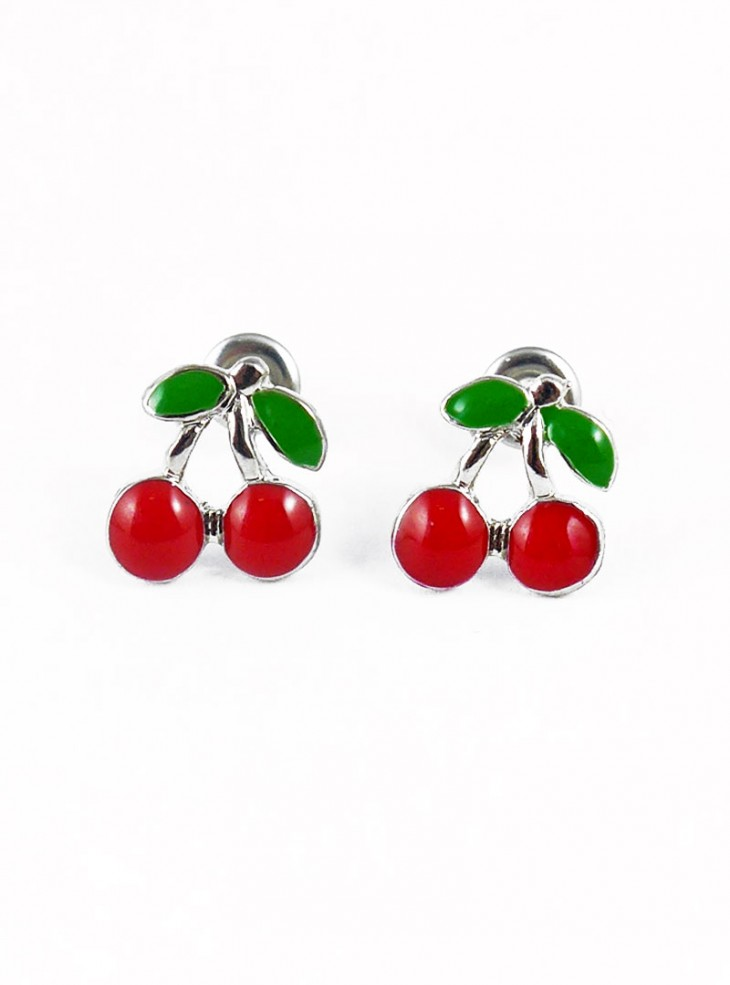 "Boucles d'oreilles Retro Rockabilly Vintage Rock Daddy ""Medium Cherry"""