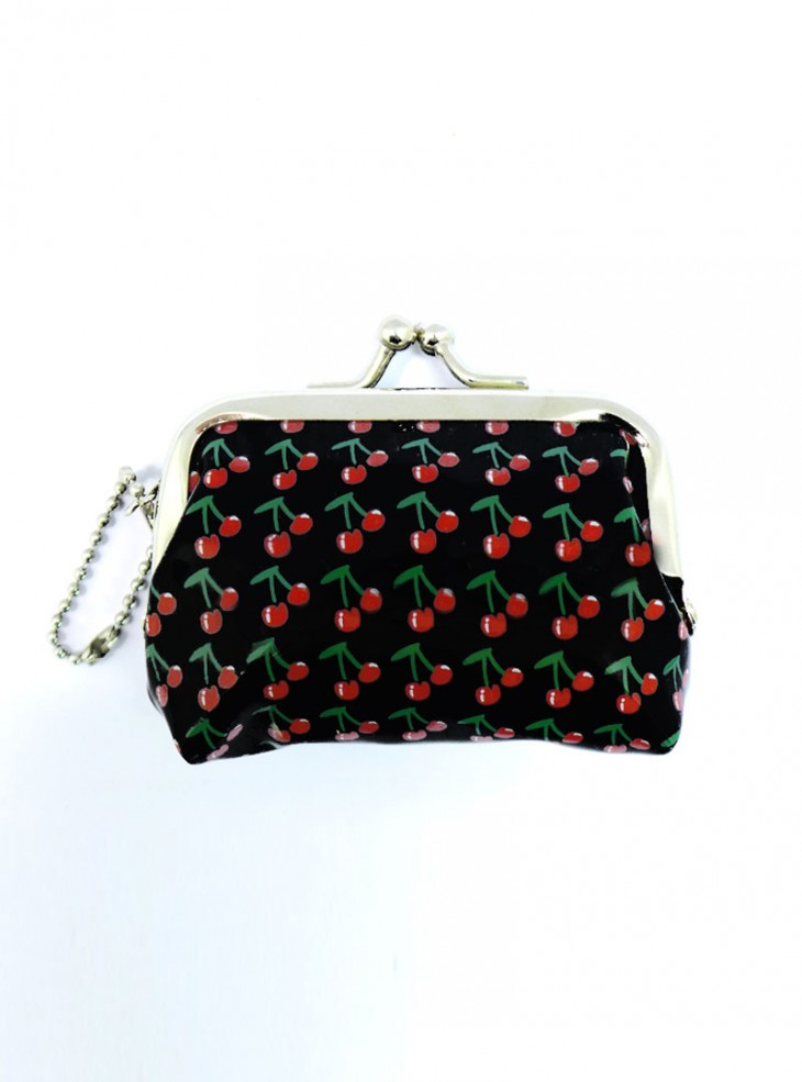 "Porte-Monnaie Rockabilly Vintage Retro Rock Daddy ""Cherry"""