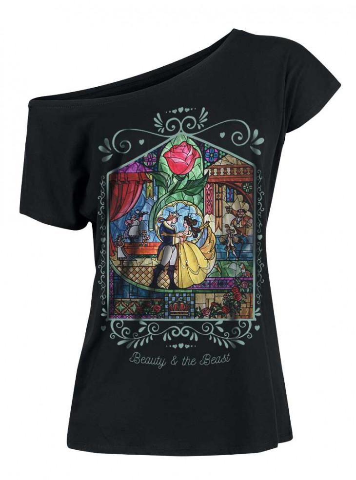 "Tee-Shirt Disney ""Beauty & The Beast Window Girl"""