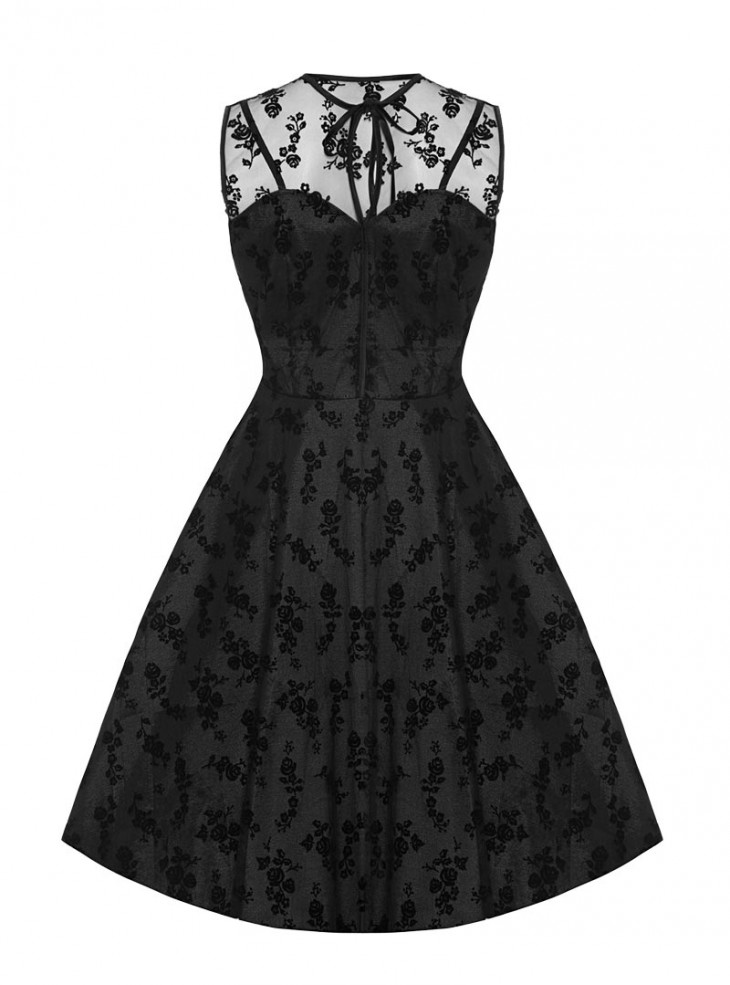"Robe Soirée Rockabilly Pin-Up Vintage Voodoo Vixen ""Penny Black"""