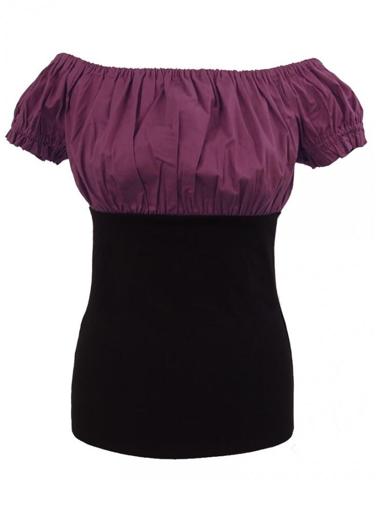 Tee-shirt Top Gothique Gypsy Aubergine