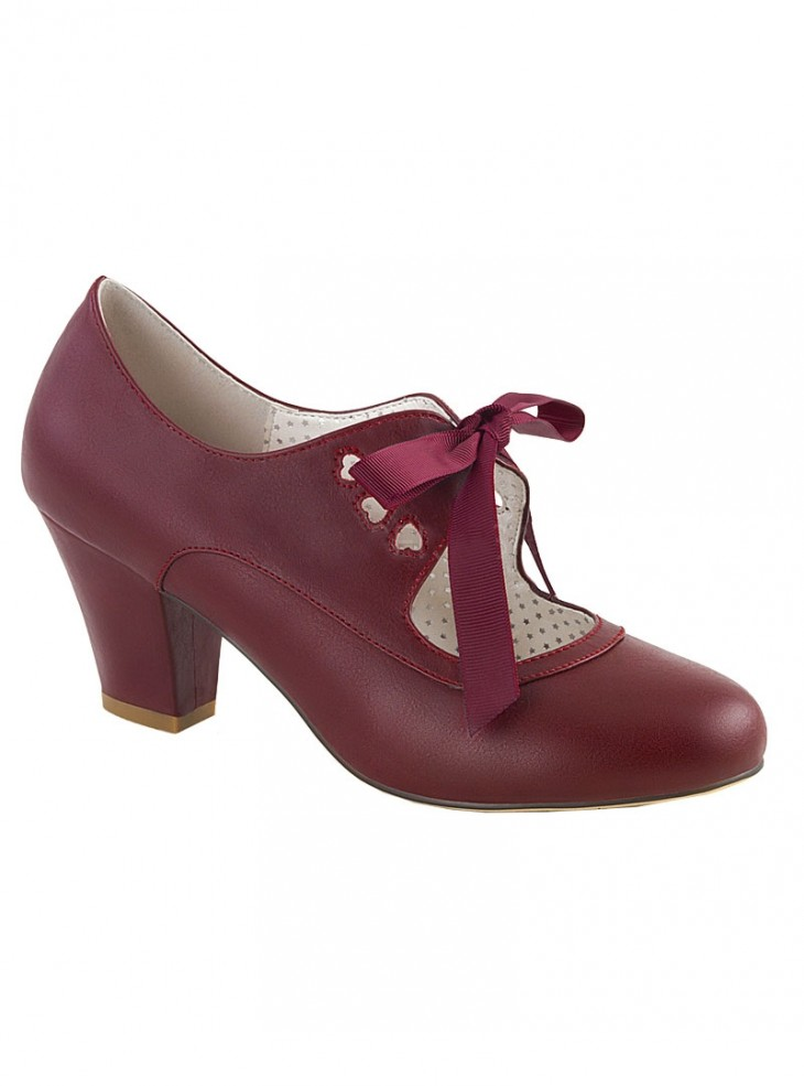 """Chaussures Escarpins Vintage Rockabilly Pin Up Couture """"Wiggle Red"""""""