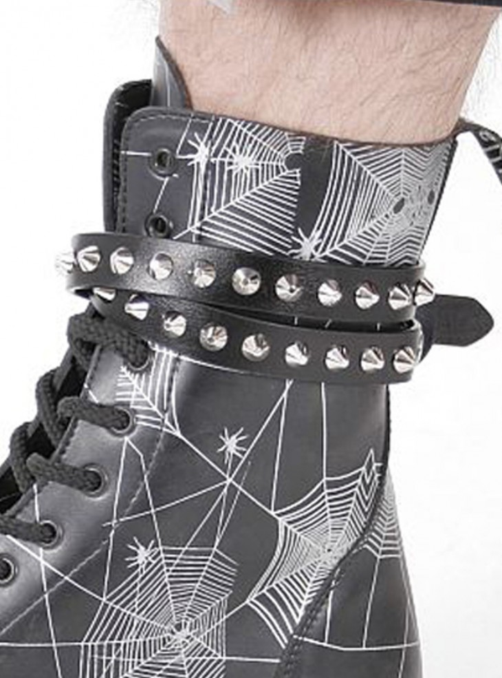 "Chaîne botte punk rock gothique Queen of Darkness ""Spikes"""