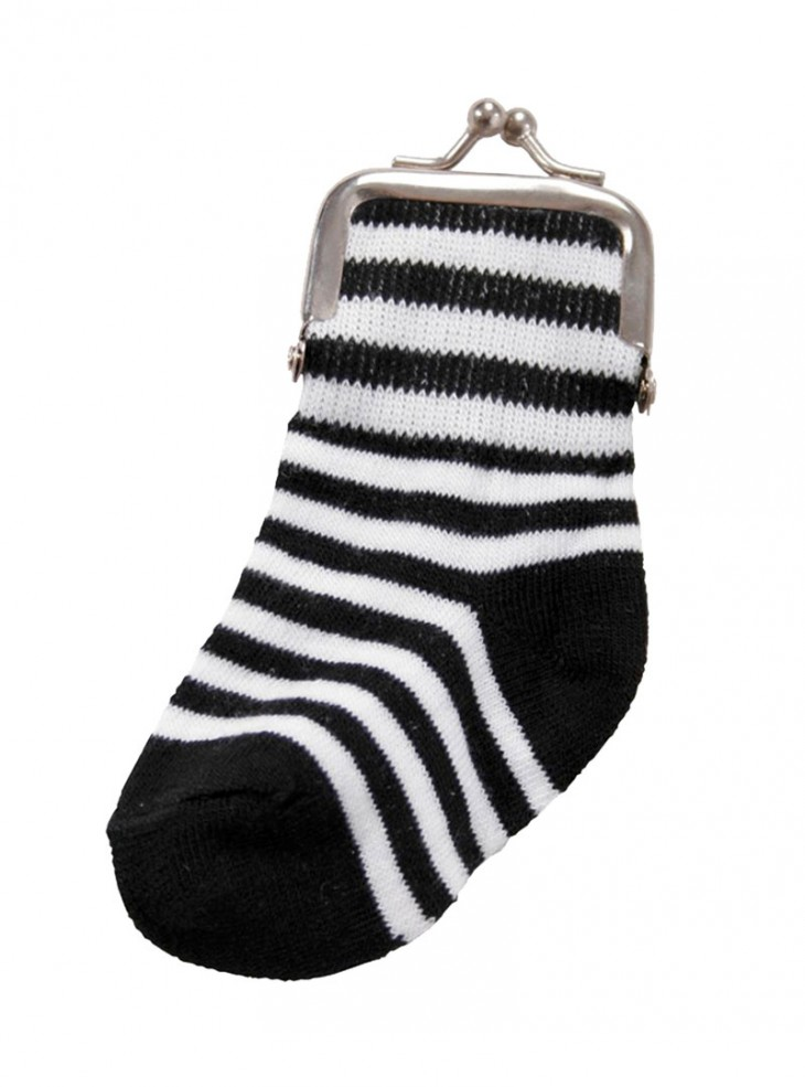 "Porte-monnaie Queen of Darkness ""Striped Sock"""