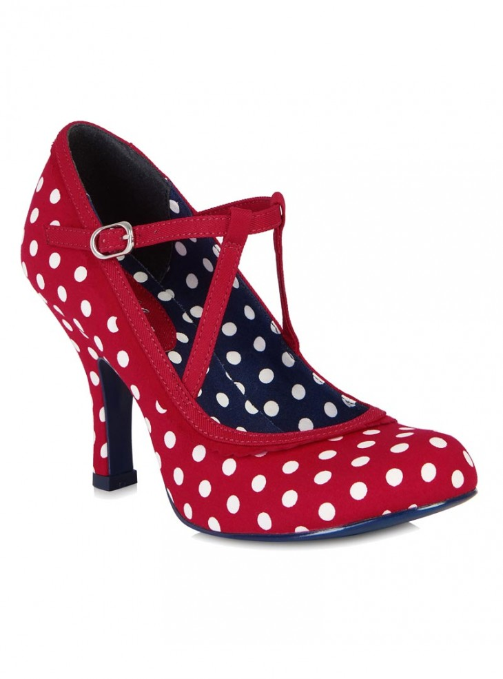 """Chaussures Escarpins Années 50 Pin-Up Rockabilly Ruby Shoo """"Jessica"""""""