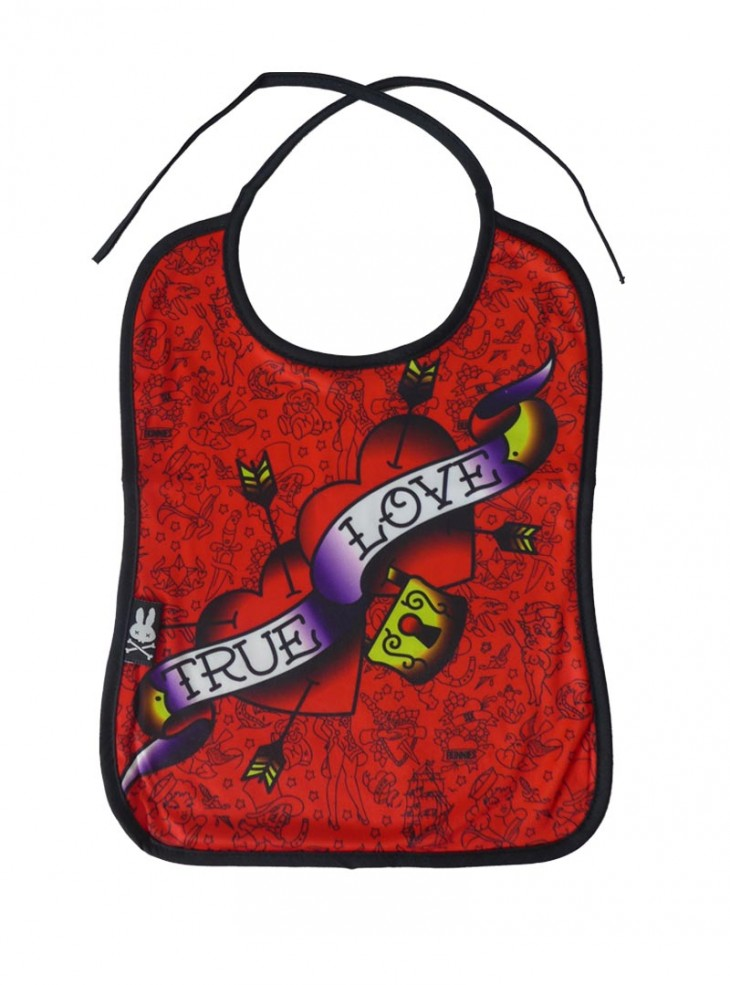 "Bavoir Rockabilly Six Bunnies ""True Love Heart"""