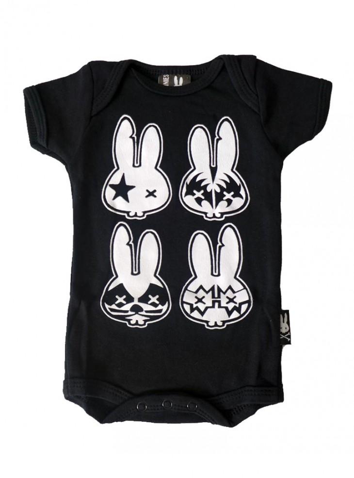"""Body Bébé Rock Six Bunnies """"Rock Bunnies"""""""
